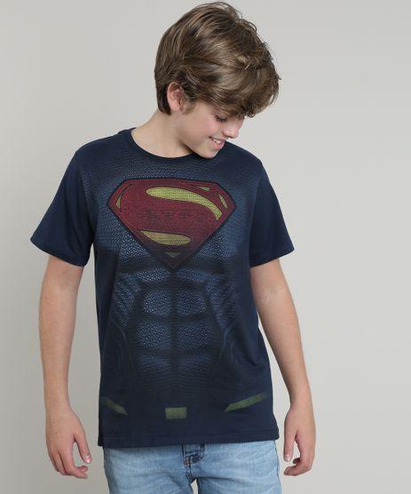 Camiseta-Infantil-Super-Homem-Manga-Curta-Gola-Careca--Azul-Marinho-8305784-Azul_Marinho_1