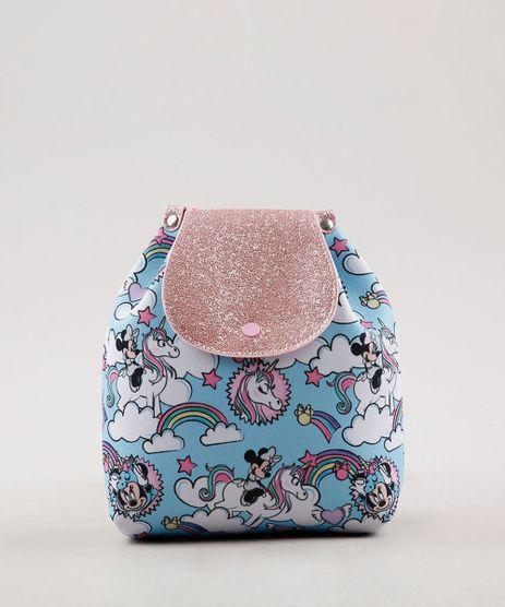 Mochila-Saco-Minnie-e-Unicornio-Azul-Claro-9664614-Azul_Claro_1