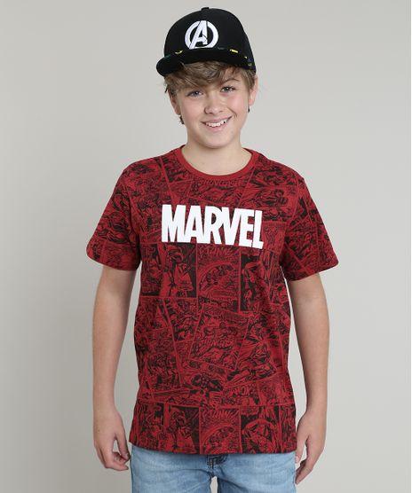 Camiseta-Infantil-Marvel-Estampada-Quadrinhos-Manga-Curta-Vermelha-9675698-Vermelho_1