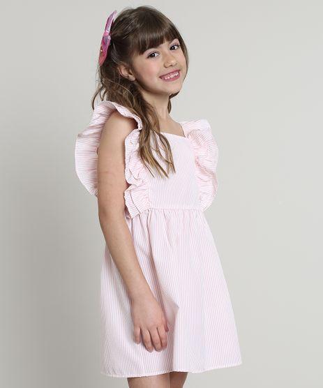 Vestido-Infantil-Listrado-com-Babado-Rosa-9569531-Rosa_1