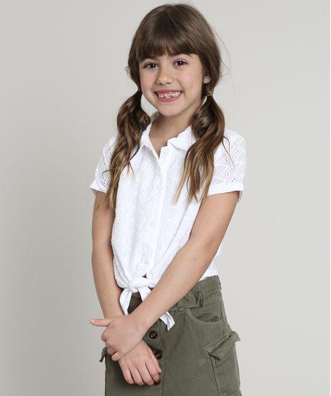 Camisa-Infantil-em-Laise-com-No-Manga-Curta-Branca-9662525-Branco_1