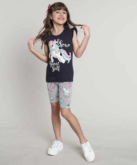 Conjunto-Infantil-My-Little-Pony-de-Regata-com-Babado-Azul-Marinho---Bermuda-Estampada-Listrada-Branca-9675147-Branco_1