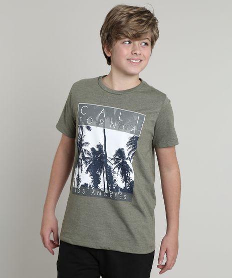 Camiseta-Infantil--California--Manga-Curta-Verde-Militar-9638767-Verde_Militar_1
