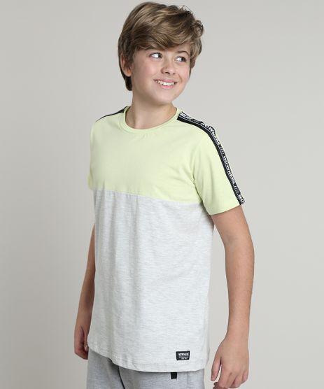 Camiseta-Infantil--Nowhere--com-Recorte-Manga-Curta-Verde-Claro-9638768-Verde_Claro_1