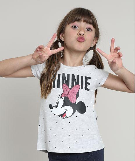 Blusa-Infantil-Minnie-Estampada-de-Poa-Manga-Curta-Cinza-Mescla-Claro-9657903-Cinza_Mescla_Claro_1