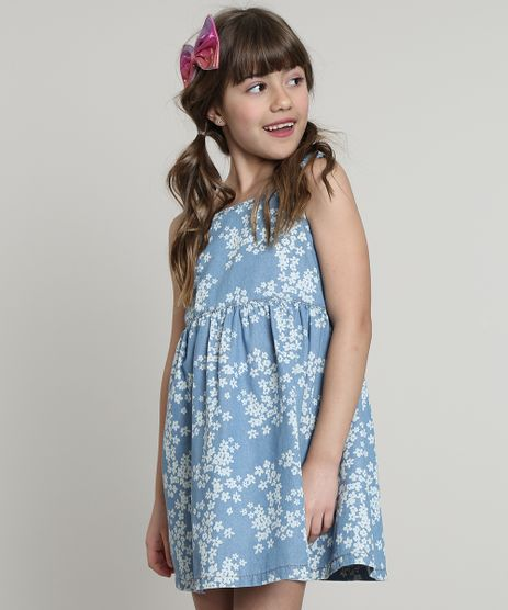 Vestido-Jeans-Infantil-Estampado-Floral-Alcas-Medias-Azul-Claro-9665959-Azul_Claro_1
