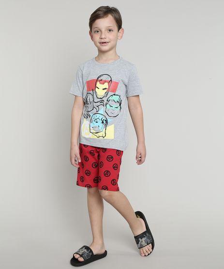 Pijama-Infantil-Os-Vingadores-Manga-Curta-Cinza-Mescla-9632358-Cinza_Mescla_1