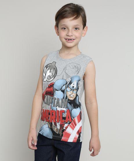 Regata-Infantil-Capitao-America-Gola-Careca-Cinza-Mescla-9428173-Cinza_Mescla_1