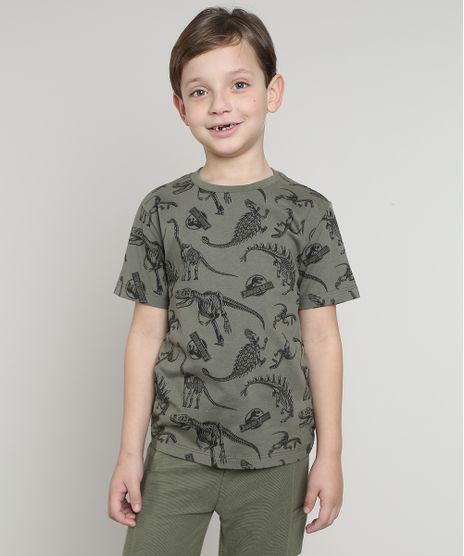 Camiseta-Infantil-Jurassic-World-Estampada-Manga-Curta-Verde-Militar-9621624-Verde_Militar_1