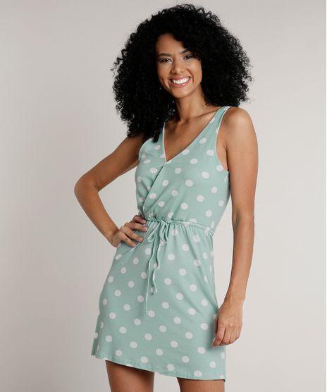 Vestido-Feminino-Curto-Transpassado-Estampado-de-Poa-com-Cordao-Sem-Manga-Verde-Agua-9613390-Verde_Agua_1