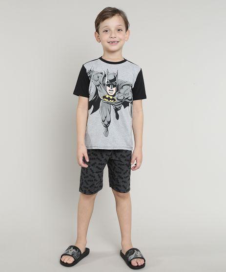 Pijama-Infantil-Batman-Manga-Curta-Cinza-9632355-Cinza_1
