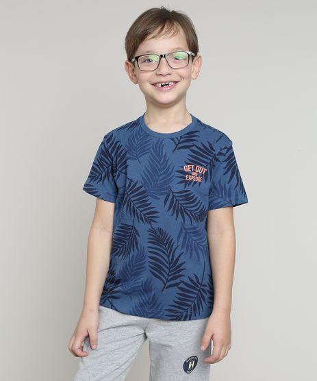 Camiseta-Infantil-Estampada-Folhagens-Manga-Curta-Azul-Escuro-9660722-Azul_Escuro_1