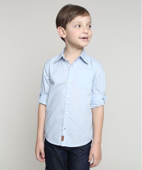 Camisa-Infantil-Estampada-de-Poa-com-Bolso-Manga-Longa-Azul-Claro-9545566-Azul_Claro_1