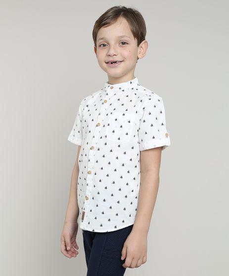 Camisa-Infantil-Estampada-de-Barco-com-Bolso-Manga-Curta-Gola-Portuguesa-Off-White-9545514-Off_White_1