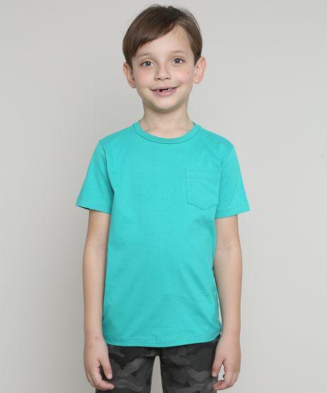 Camiseta-Infantil-com-Bolso-Manga-Curta-Verde-9567186-Verde_1