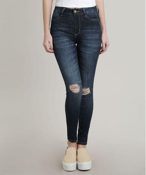 Calca-Jeans-Feminina-Destroyed-Sawary-Cigarrete-Pull-up--Azul-Escuro-9748516-Azul_Escuro_1