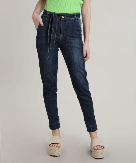 Calca-Jeans-Feminina-Sawary-Jogger-Cropped-com-Cinto-Azul-Medio-9748512-Azul_Medio_1