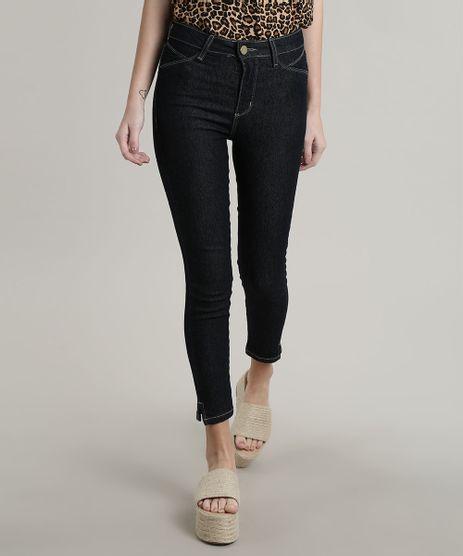 Calca-Jeans-Feminina-Sawary-Cropped-Push-Up-com-Fenda-Azul-Escuro-9746900-Azul_Escuro_1