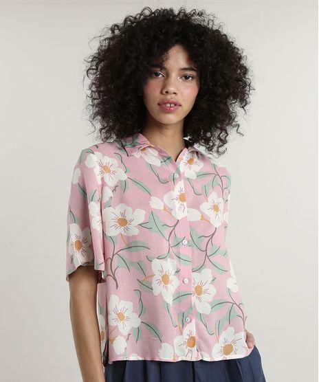 Camisa-Feminina-Mindset-Ampla-Estampada-Floral-Manga-Curta-Rosa-Claro-9792476-Rosa_Claro_1