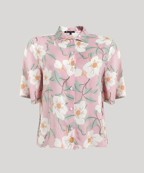 Camisa-Feminina-Mindset-Ampla-Estampada-Floral-Manga-Curta-Rosa-Claro-9792476-Rosa_Claro_5
