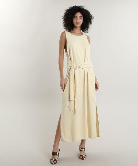Vestido-Feminino-Longo-Mindset-com-Fenda-e-Amarracao-Amarelo-Claro-9792468-Amarelo_Claro_1
