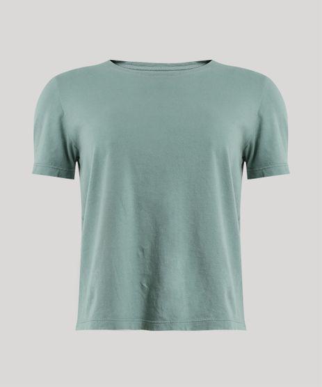 T-Shirt-Feminina-Mindset-Manga-Curta-Decote-Redondo-Verde-9807722-Verde_5