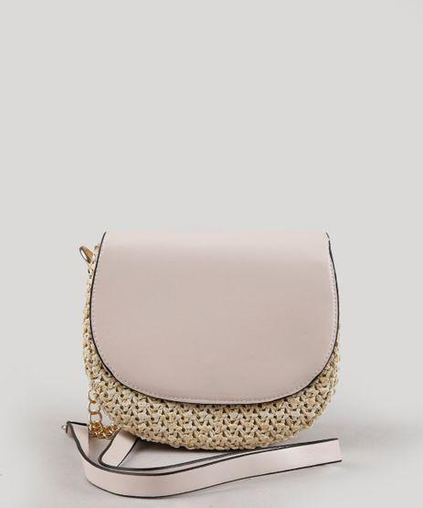 Bolsa-Feminina-Transversal-Pequena-com-Palha-e-Alca-Corrente-Rosa-Claro-9604665-Rosa_Claro_1