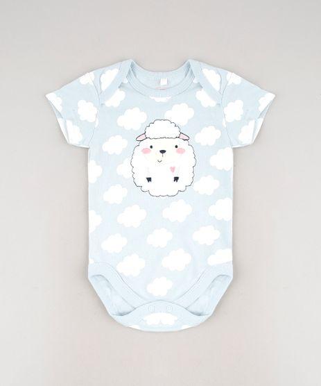 Body-Infantil-com-Patch-de-Ovelha-Estampado-de-Nuvem-Manga-Curta-Azul-Claro-9586901-Azul_Claro_1