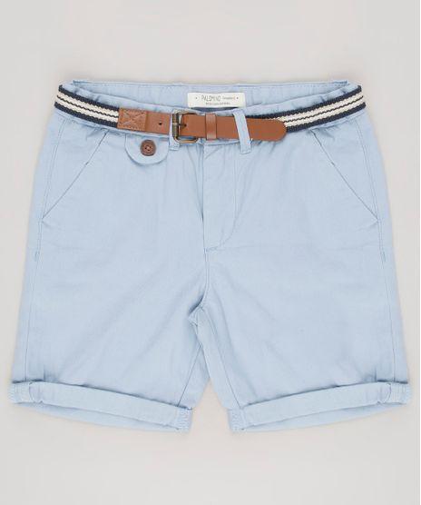 Bermuda-Infantil-Reta-com-Cinto-Azul-Claro-9545590-Azul_Claro_1