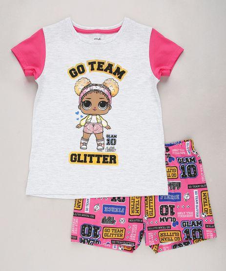 Pijama-Infantil-Lol-Surprise-Estampado-Manga-Curta-Cinza-Mescla-Claro-9641222-Cinza_Mescla_Claro_1