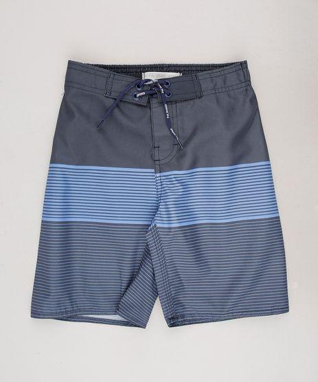 Bermuda-Surf-Infantil-Listrado-com-Velcro-e-Cordao-Chumbo-9653046-Chumbo_1