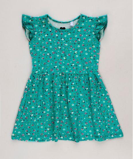 Vestido-infantil-Estampado-Floral-com-Babados-Sem-Manga-Verde-Agua-9679492-Verde_Agua_1