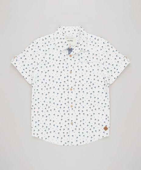 Camisa-Infantil-Estampada-de-Coqueiros-com-Bolso-Manga-Curta-Off-White-9545402-Off_White_1