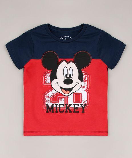 Camiseta-Infantil-Mickey-Manga-Curta-Gola-Careca-Azul-Marinho-8647274-Azul_Marinho_1