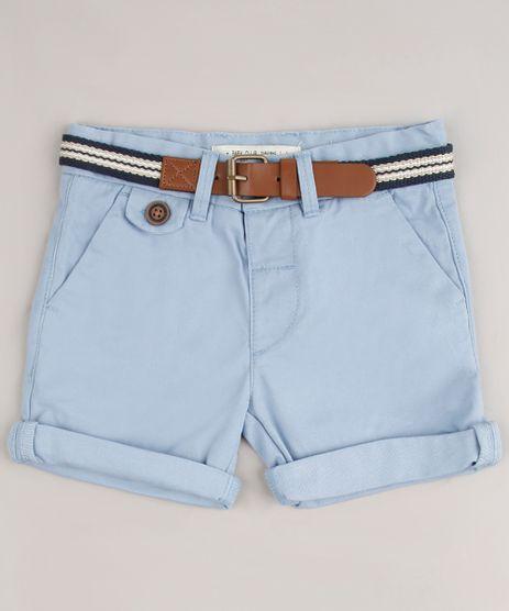 Bermuda-de-Sarja-Infantil-Slim-com-Cinto-Azul-Claro-8710132-Azul_Claro_1