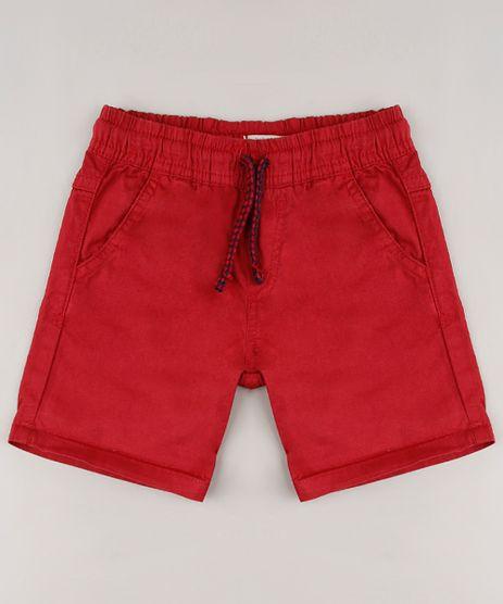 Bermuda-de-Sarja-Infantil-com-Cordao-e-Bolsos-Vermelha-9633857-Vermelho_1