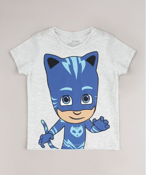 Camiseta-Infantil-Pj-Masks-Gato-Manga-Curta--Cinza-Mescla-Claro-9618750-Cinza_Mescla_Claro_1