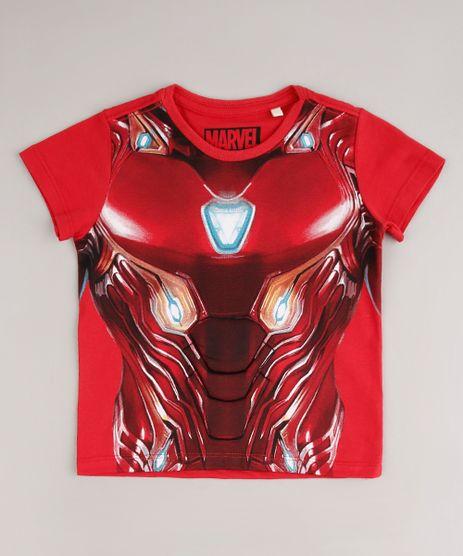 Camiseta-Infantil-Homem-de-Ferro-Manga-Curta-Vermelha-9681351-Vermelho_1