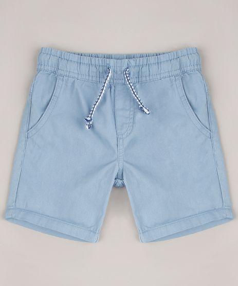 Bermuda-de-Sarja-Infantil-com-Cordao-e-Bolsos-Azul-Claro-9633857-Azul_Claro_1