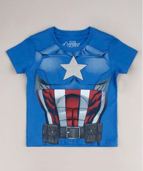 Camiseta-Infantil-Capitao-America-Manga-Curta-Azul-9681353-Azul_1