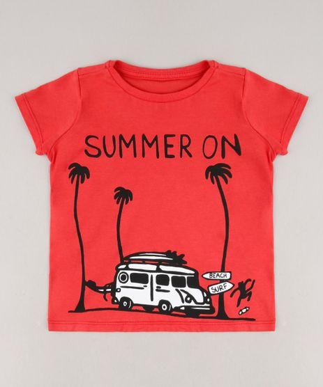 Camiseta-Infantil-Summer-On-Manga-Curta-Vermelha-9664953-Vermelho_1