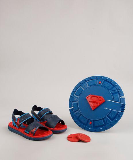 Sandalia-Papete-Infantil-Grendene-Super-Homem-Vem-com-Escudo-Lanca-Disco-Azul-Marinho-9696757-Azul_Marinho_1