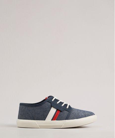 Tenis-Jeans-Infantil-Molekinho-com-Faixa-Lateral-Azul-Escuro-9707736-Azul_Escuro_1