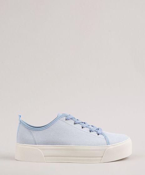 Tenis-Jeans-Feminino-Moleca-Flatform--Azul-Claro-9718210-Azul_Claro_1