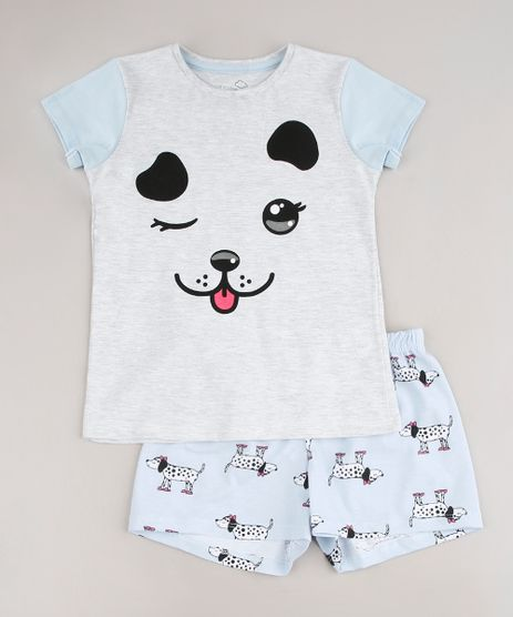 Pijama-Infantil-Cachorro-Manga-Curta-Cinza-Mescla-Claro-9641229-Cinza_Mescla_Claro_1