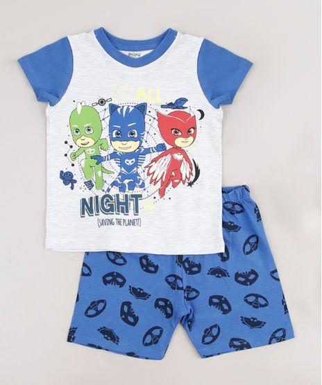 Pijama-Infantil-PJ-Masks-Manga-Curta-Cinza-Mescla-Claro-9633464-Cinza_Mescla_Claro_1