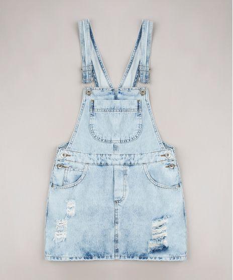 Salopete-Jeans-Infantil-com-Rasgos-Azul-Claro-9654490-Azul_Claro_1