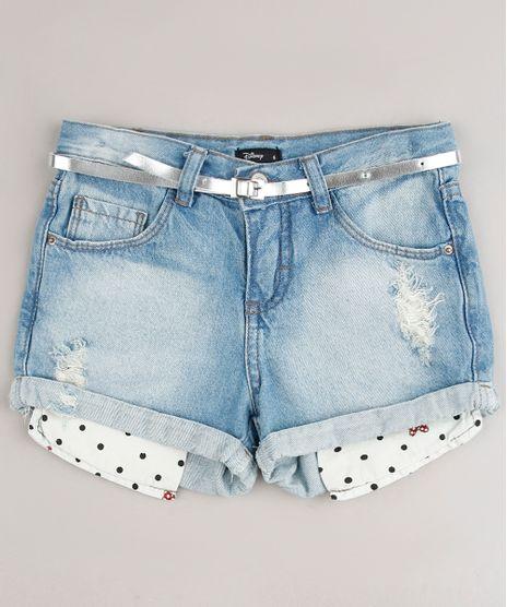 Short-Jeans-Infantil-Minnie-Destroyed---Cinto-Azul-Claro-9638828-Azul_Claro_1