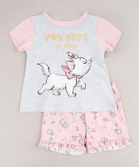 Pijama-Infantil-Marie-Manga-Curta-Cinza-Mescla-Claro-9632349-Cinza_Mescla_Claro_1