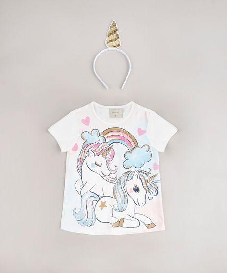 Blusa-Infantil-Unicornio-Manga-Curta---Tiara-Off-White-9675156-Off_White_1